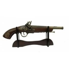 Оружие сувенирное: пистоль на подставке (ос-65а)