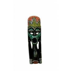 Маска Человек с черной маской с орнаментом 35см (ФА-ми-11)