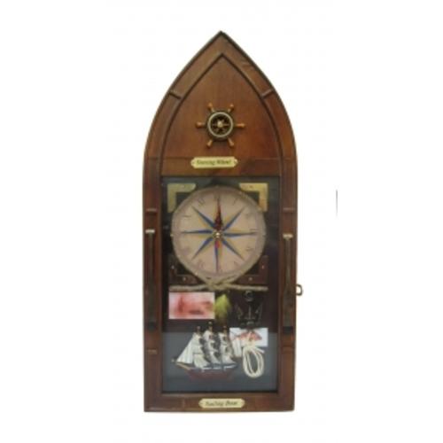 Морская тематика: ключница с часами (фа-мт-08)