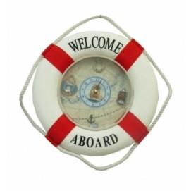 Морская тематика: часы-спасательный круг, 2 цвета (фа-мт-06, мт-13, мт-14)