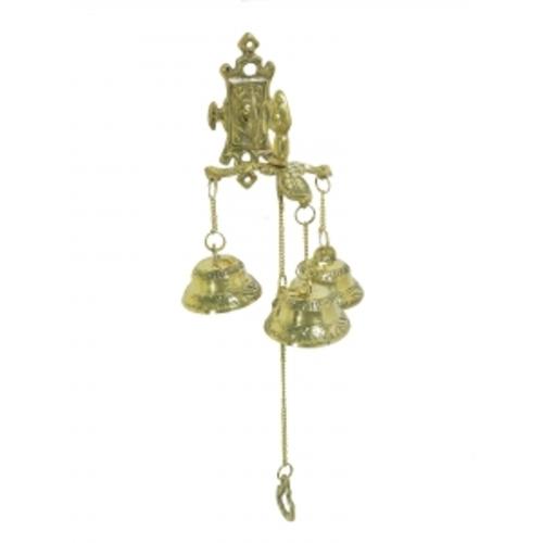 Три колокольчика на дверь, латунь (фа-кл-43)
