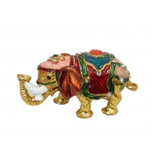 Золотые фигурки: слон с белыми бивнями (фа-жз-38)
