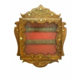 Подставка для ключей в виде шкафчика со стеклом (фа-пк-69)