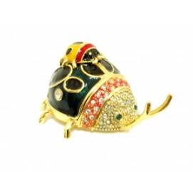 Шкатулка - жук под золото, 9см (ФА-жз-20)
