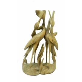 Статуетка Два аиста держат рыбку, 2 вида (фа-ас-50)
