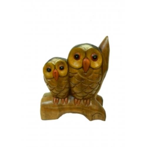 Статуэтка Две совы на ветке, 2 вида (см-25)