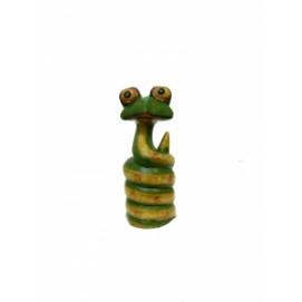 Статуэтка Змейка крашенная, лупоглазая (з-59)