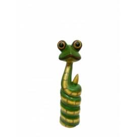 Статуетка Змейка крашенная, лупоглазая (фа-з-57)