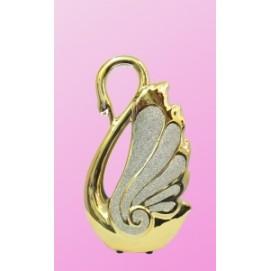 Статуэтка золотой лебедь с песком, 28см (ФА-фф-18)