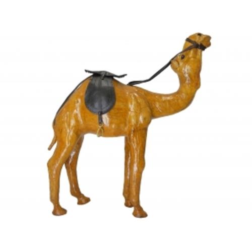 Статуэтка Кожаные животные: верблюд лежит (кж-64)