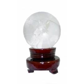 Статуэтка Хрустальное изделие глобус на подставке 13см (ФА-хи-12)