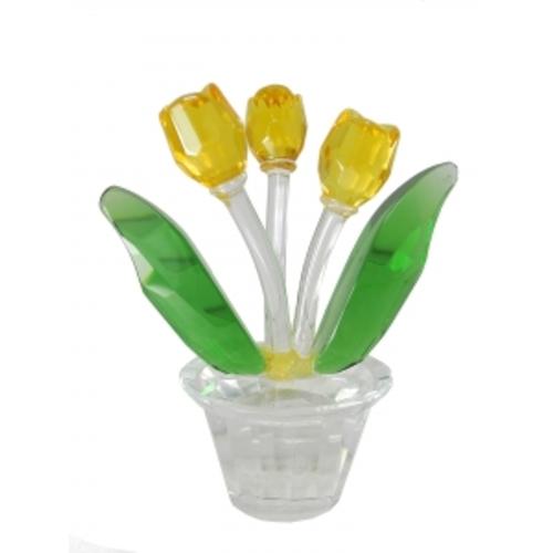 Статуэтка Хрустальный цветок 3 цв (фа-хц-04)