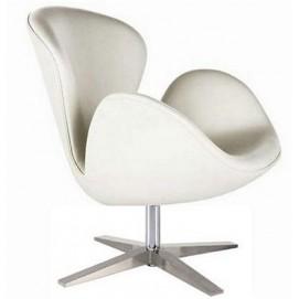 Кресло СВ Mebelmodern белое экокожа