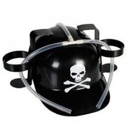 Пластиковая каска ЧЕРЕП skull, черно-белая WOW-93/1998