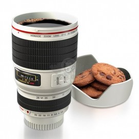 Кружка Camera Lens  450 мл, чёрно-белая WOW-CAMCUPWHT