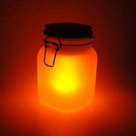 Ночник SUN JAR желтый, на солнечных батарейках