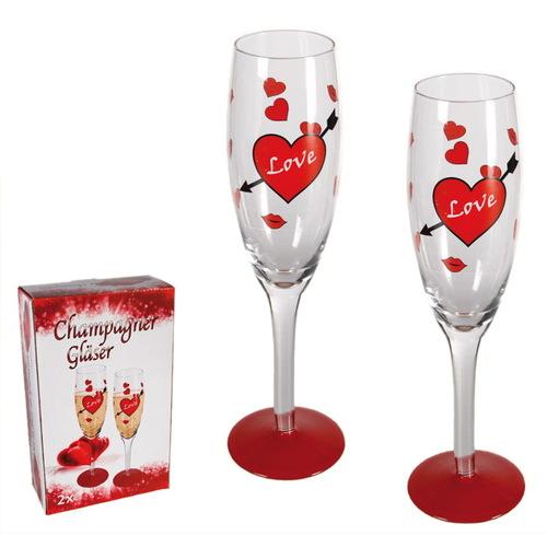 Подарок на 14 февраля - Набор бокалов Love 410008