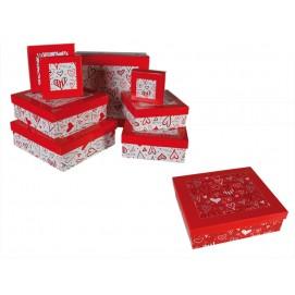 Подарок на 14 февраля - Набор коробок Heart 8 шт. 750050
