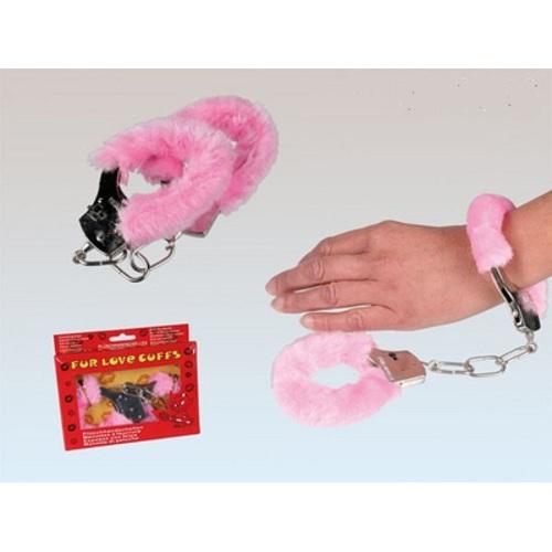 Подарок на 14 февраля - Наручники Love розовые с мехом 63-0052