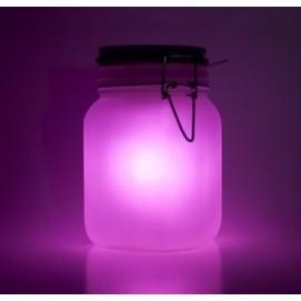 Ночник SUN JAR розовый, на солнечных батарейках