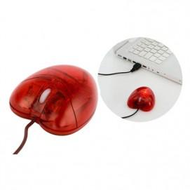 Подарок на 14 февраля - USB мышка Сердце красная 24246