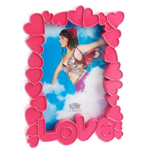 Фоторамка LOVE розовая 10х15см SY100-876PI