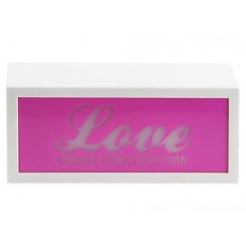 Подарок на 14 февраля - Табличка Love under construction с подсветкой WA0858