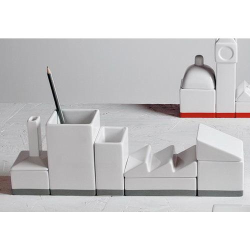 Подставка The warehouse porcelain desk organizer set 8008215106922 Seletti