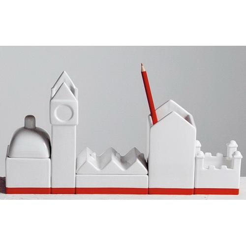 Подставка The city porcelain desk organizer set 8008215106946 Seletti