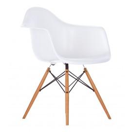 Кресло ТАУЭР ВУД белое Mebelmodern ноги дерево