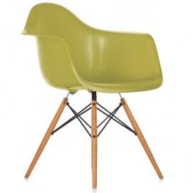 Кресло ТАУЭР ВУД зеленое Mebelmodern ноги дерево