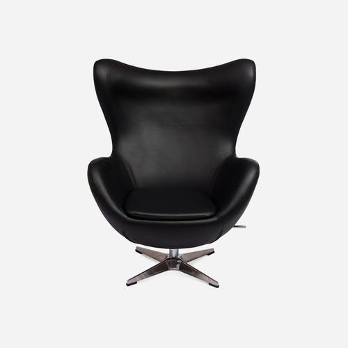 Кресло Egg экокожа чёрное iCOO