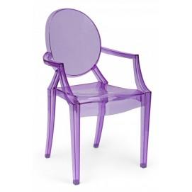 Стул Louis ghost фиолетовый iCOO
