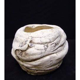 Горшок камень 1 с поддоном Керамус
