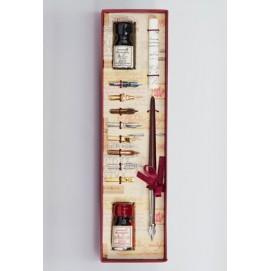 Набор ручки, 2х чернил, 8ми насадок и свитка La Kaligrafica 2301-24