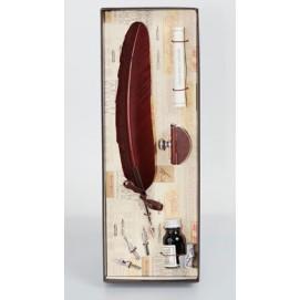 Набор из пера, 3х насадок, пресс-папье, чернила и свитка La Kaligrafica 7231-30