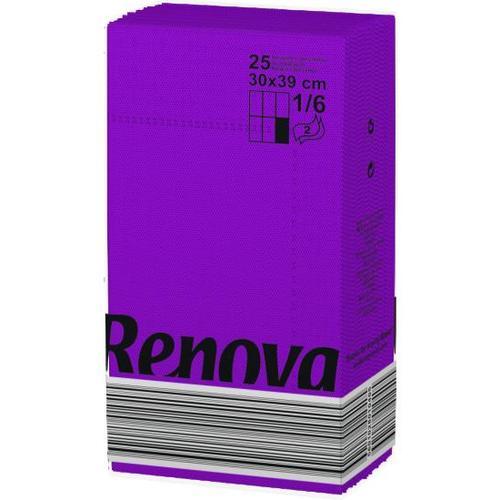 Renova салфетки фиолетовые 30х39 10795