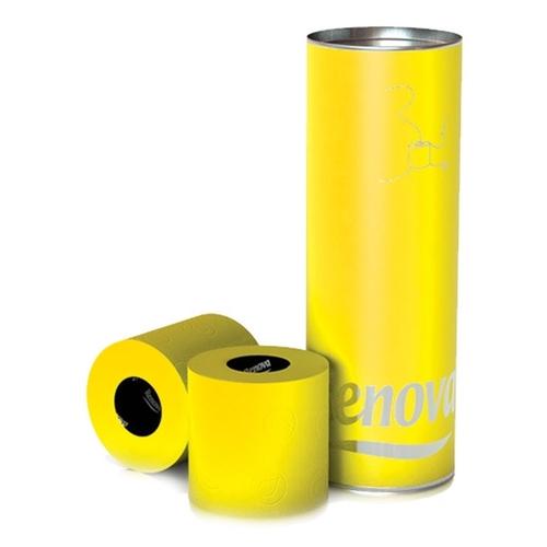 Renova туалетная  бумага  желтый подарочный тубус 3 шт. 13604