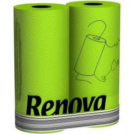Renova кухонные полотенца зеленые 2 шт. 11082