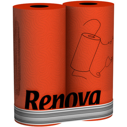 Renova кухонные полотенца  красные 2 шт. 11099 Aricol