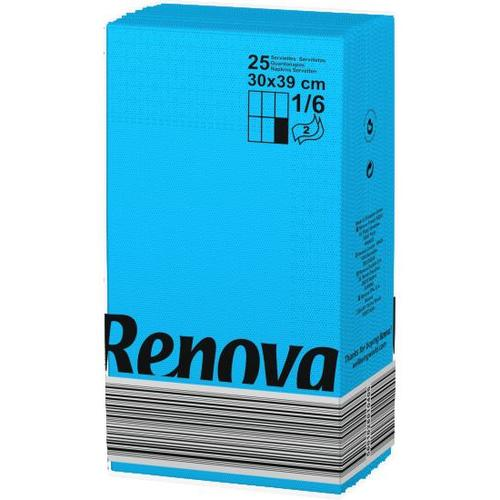 Renova салфетки голубые 30х39 14267