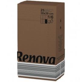 Renova салфетки коричневые 30х39  17114