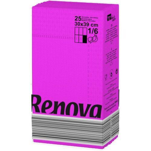 Renova салфетки фуксия 30х39 14250