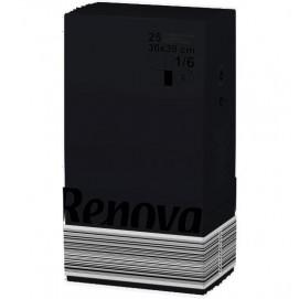 Renova салфетки черные 30х39 10405