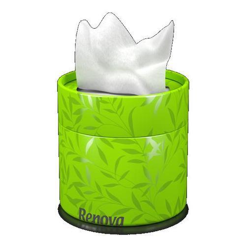 Renova салфетки косметические коробках 40шт. (зеленые) 10047