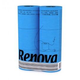 Renova туалетная бумага голубая 6 шт. 11969