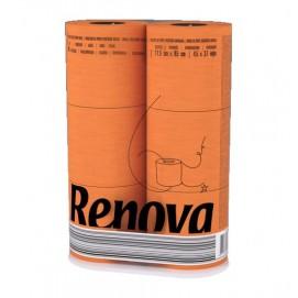 Renova уалетная бумага   оранжевая 6 шт. 10481