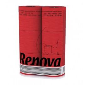 Renova туалетная бумага красная 6 шт. 10108