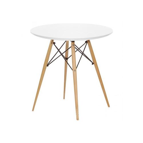 Стол обеденный круглый 80 см Тауэр Вуд Mebelmodern белый