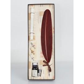 Набор из пера, 3х насадок, чернила и свитка La Kaligrafica 7229-22 коричневый